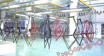 自行车喷涂生产线